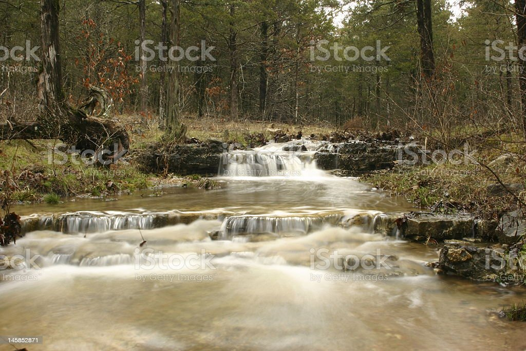 Stream with falls stock photo