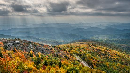 istock Streaming Autumn Morning light on Rough Ridge and the Blue Ridge Parkway 960567820