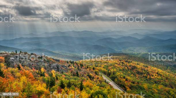 Photo of Streaming Autumn Morning light on Rough Ridge and the Blue Ridge Parkway