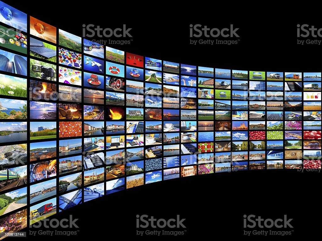Streaming media concept See also: Backgrounds Stock Photo