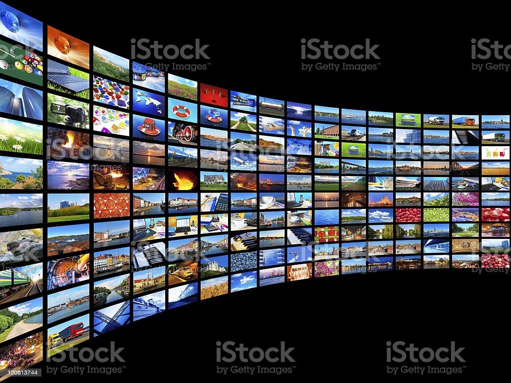 Streaming media concept stock photo
