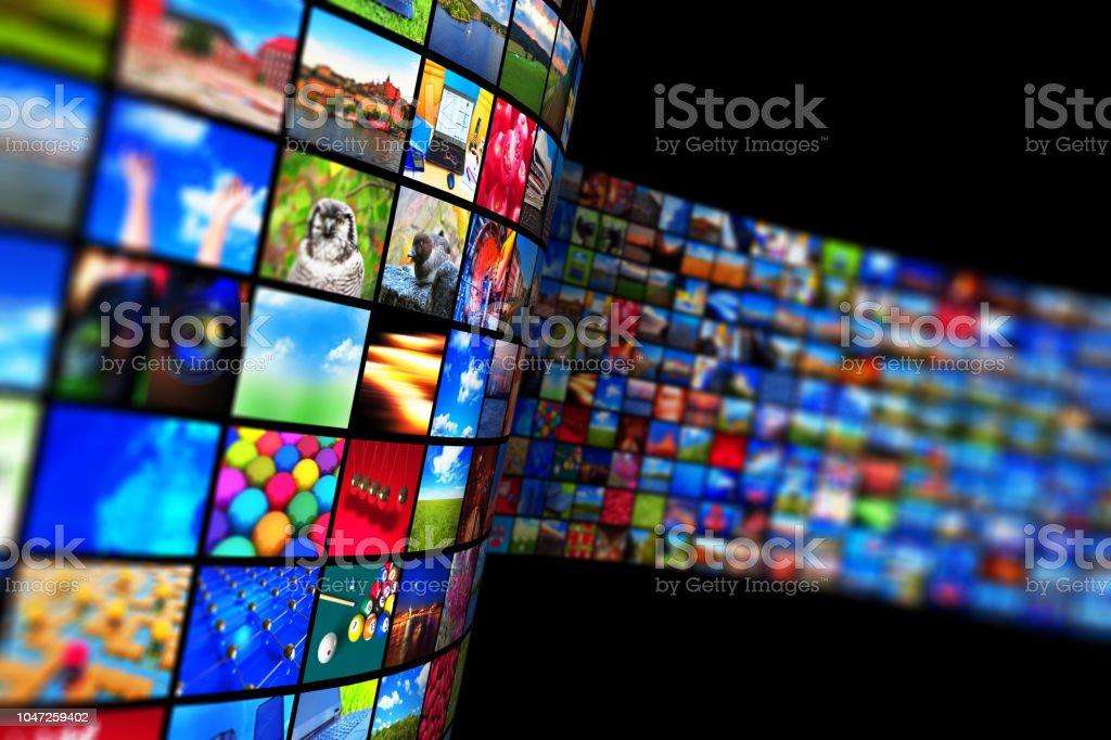 Streaming media-Technologie und multimedia-Konzept - Lizenzfrei Bandbreite Stock-Foto