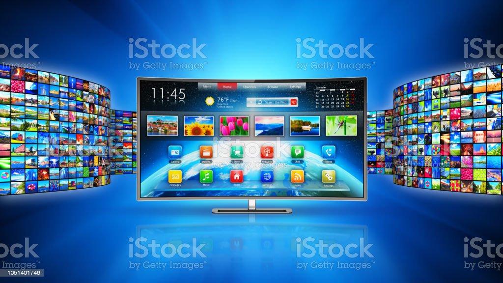 Streaming-Media-Technologie und Multimedia-Konzept – Foto