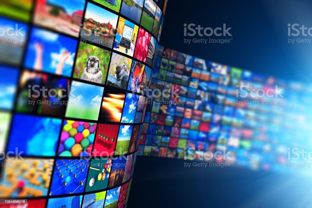 Technologie de streaming média et multimédia concept photo libre de droits