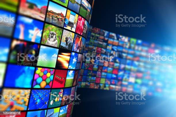Streaming Media Technology And Multimedia Concept Stock Photo - Download Image Now