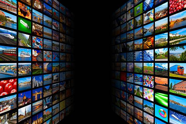 Streaming de medios de comunicación concepto de tecnología multimedia y - foto de stock