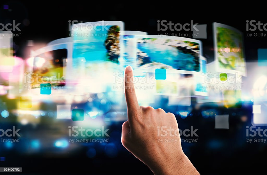 Streaming screen technology stock photo