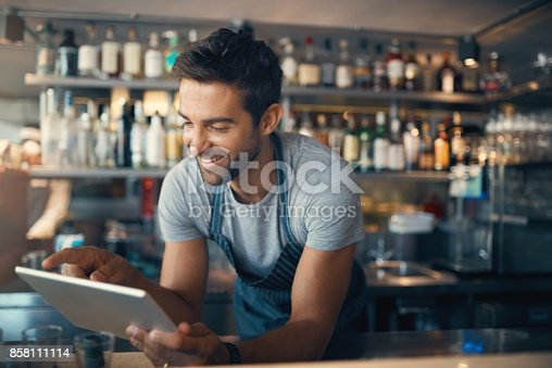 istock Streamlining small business tasks with smart tech 858111114