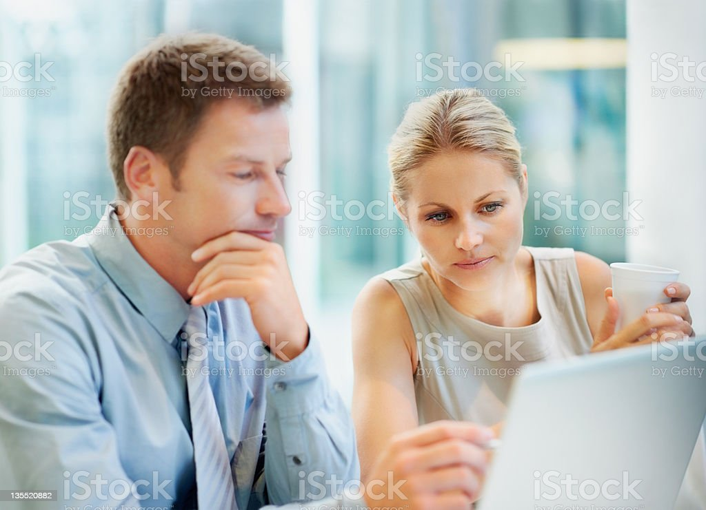 Streamlining their business proposal royalty-free stock photo