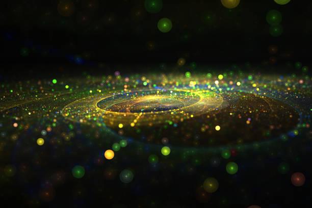 stromen van licht abstract fractal patroon - fractal stockfoto's en -beelden