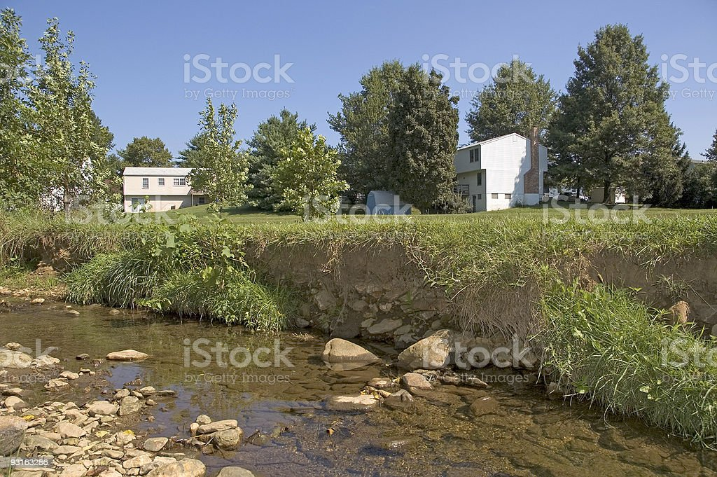Streamside Erosion royalty-free stock photo