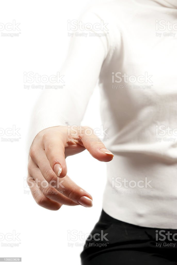 Streched hand royalty-free stock photo
