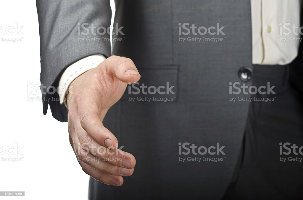 Streched hand stock photo