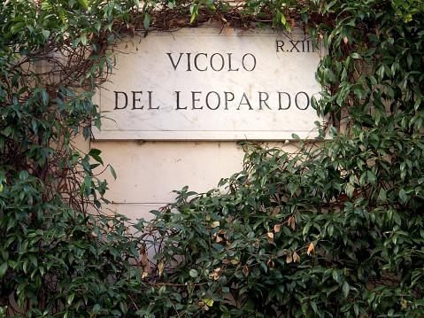 Stree Sign for Leopardo