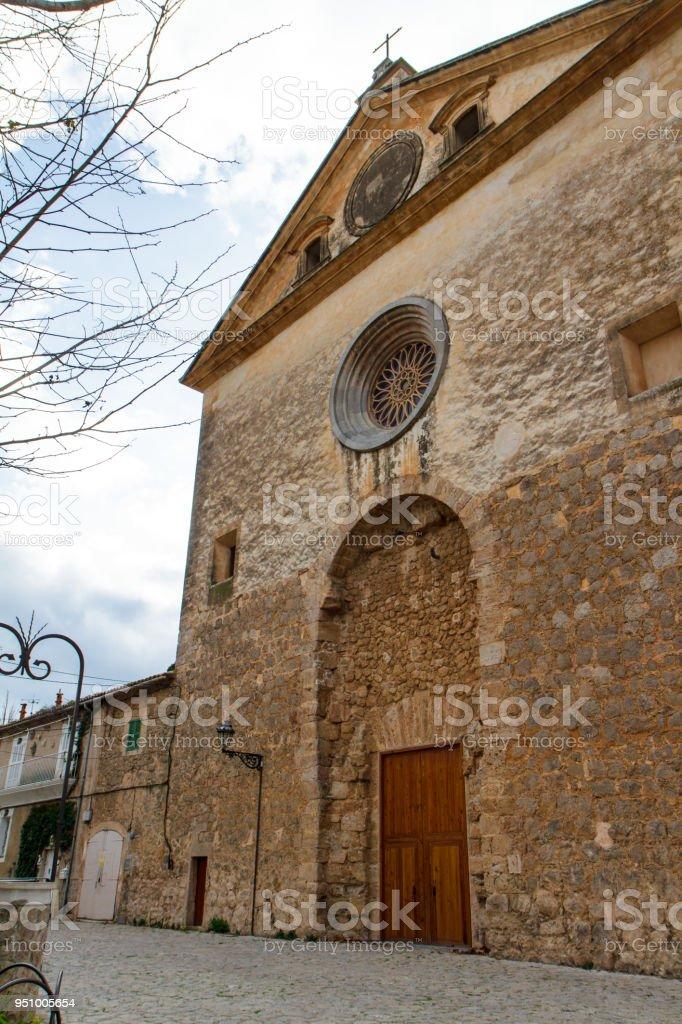 Street and architecture in Valdemossa, Mallorca. Spain stock photo