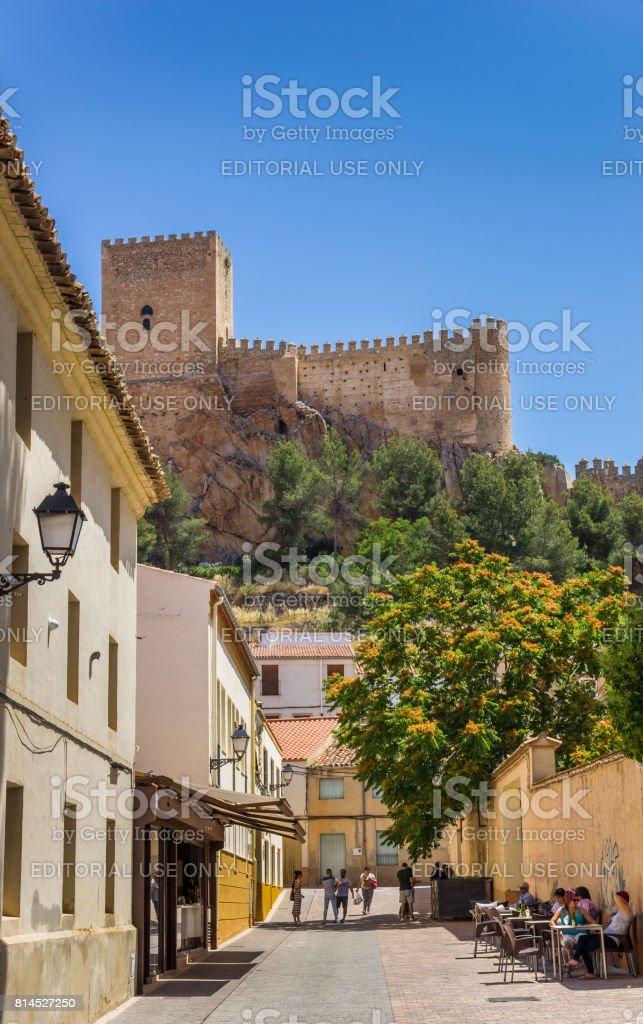 Château de rue et de la colline de Almansa, Espagne - Photo
