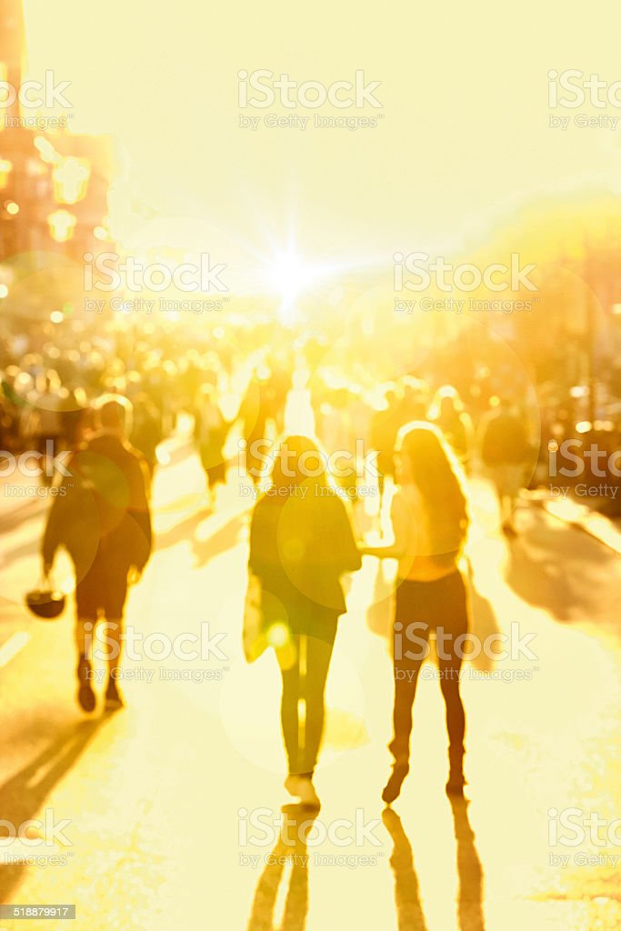 Street and lens flare stock photo