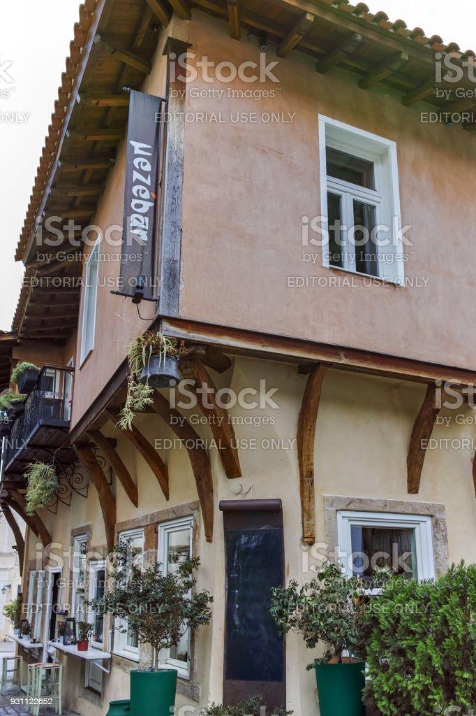 Sokak ve eski evleri eski kasaba İskeçe, Doğu Makedonya ve Trakya, Yunanistan - Royalty-free Akdeniz Kültürü Stok görsel