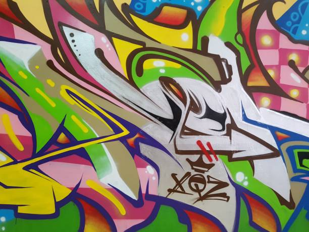 Street art graffiti Detail of a colorful wall graffiti street art stock pictures, royalty-free photos & images
