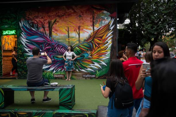 Street Art in Beco do Batman, Vila Madalena, Sao Paulo – Foto