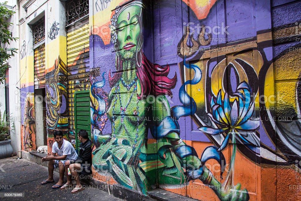 Street art in Rio de Janeiro Brazil stock photo