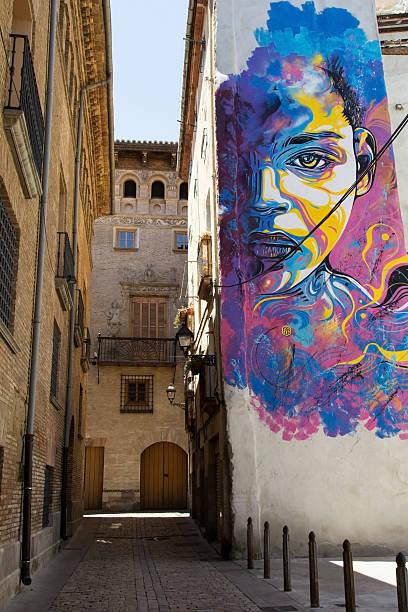 Calle arte, Tudela - foto de stock