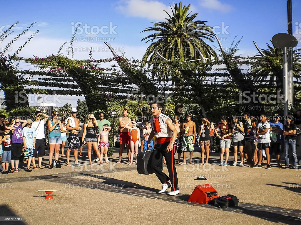 Street  artist comedian performance . royalty-free stock photo