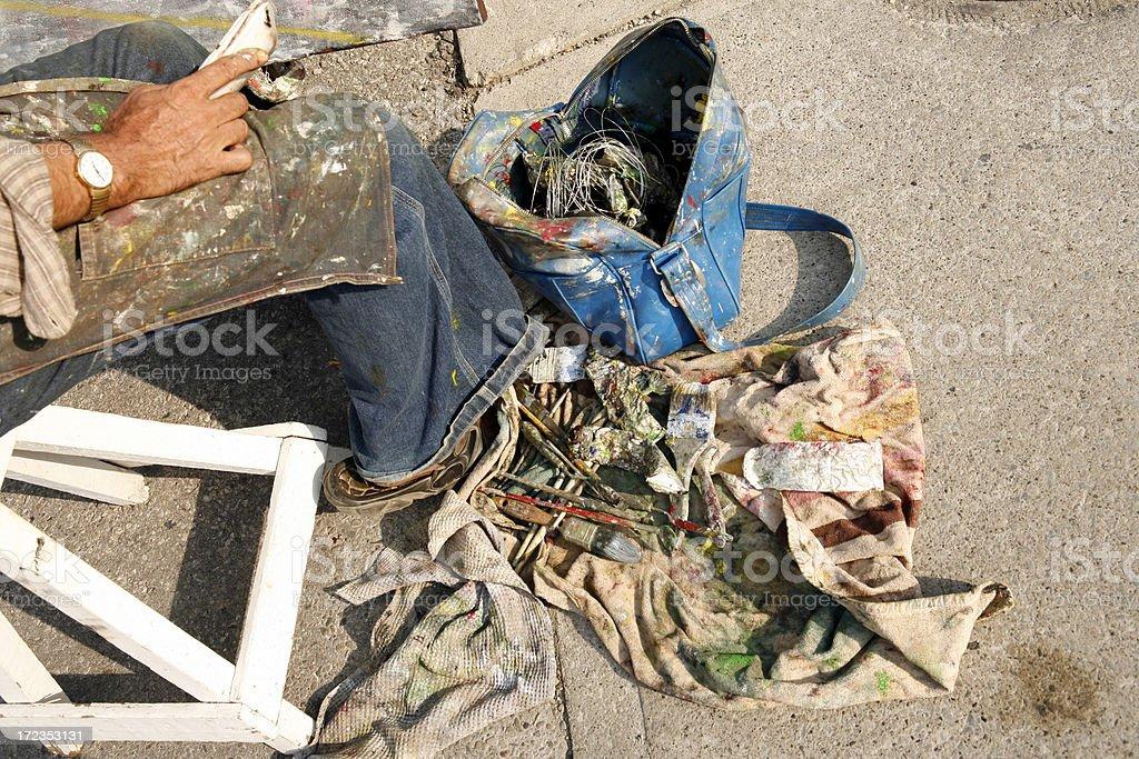 Artista callejero foto de stock libre de derechos