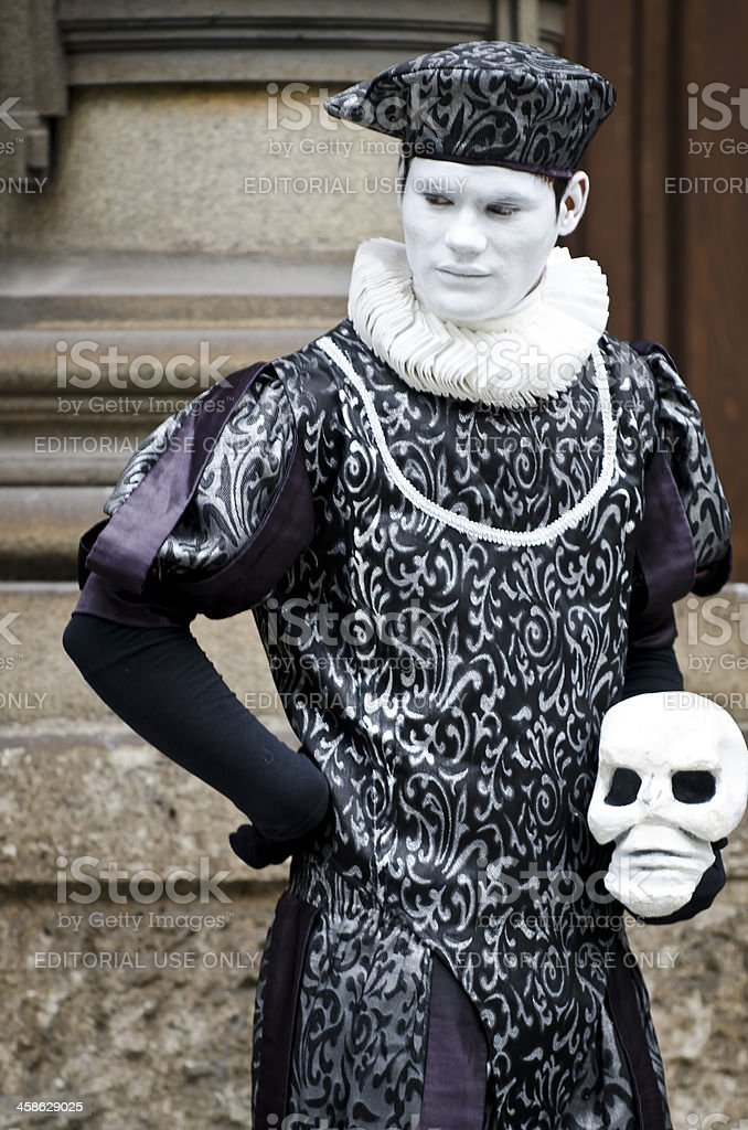 Street artist recites Hamlet royalty-free stock photo