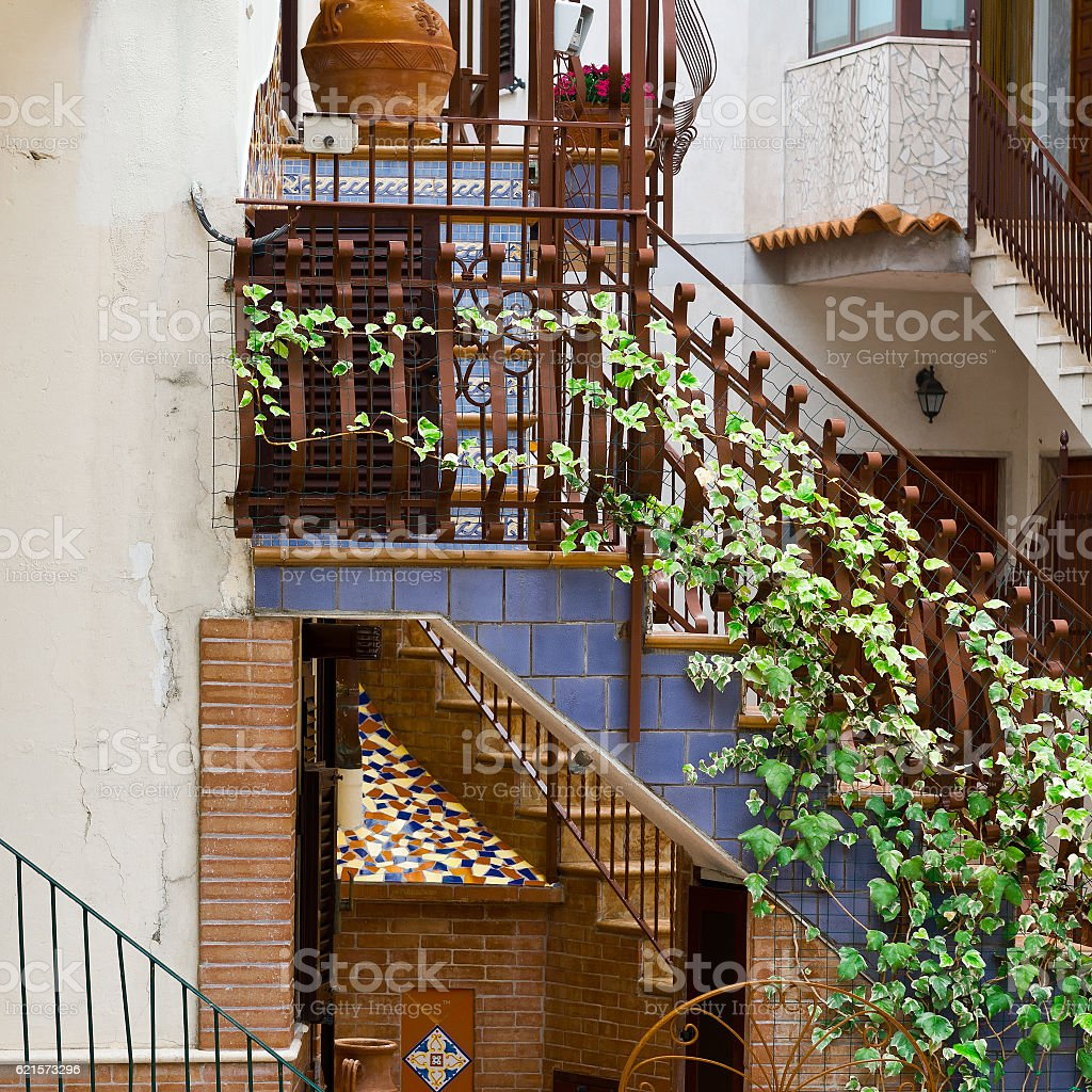 Rue des escaliers photo libre de droits