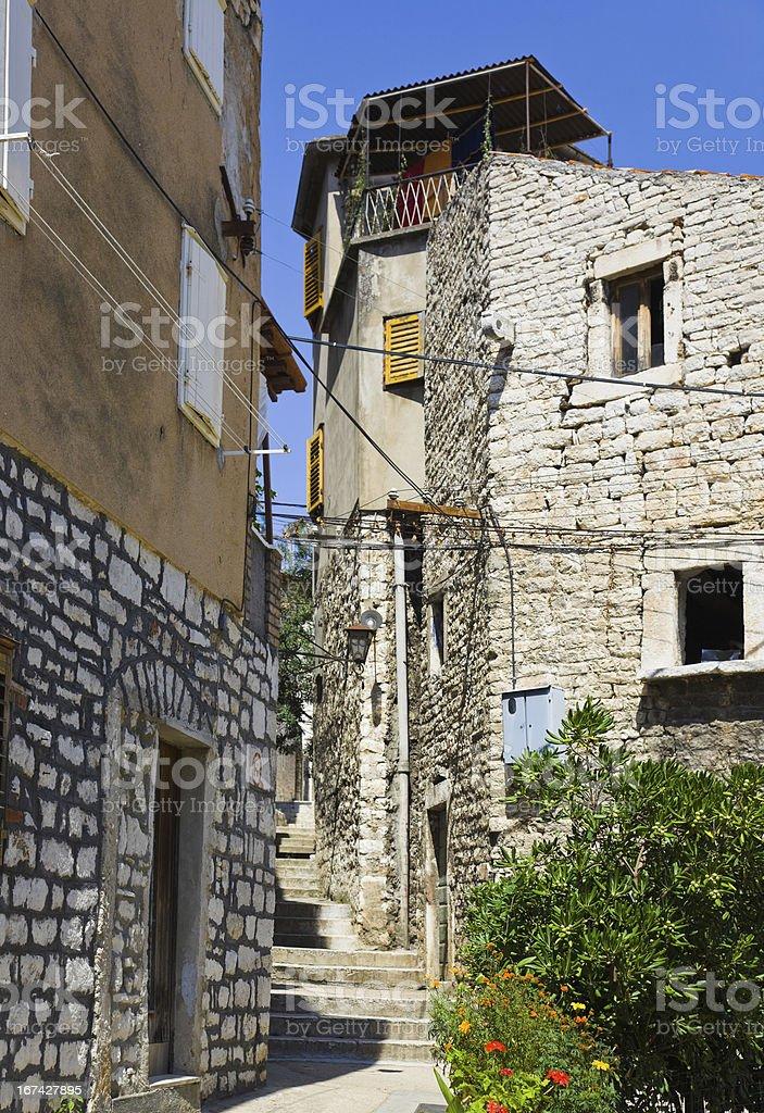 Street at Sibenik, Croatia royalty-free stock photo