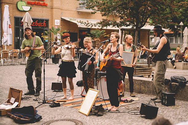 Street band in Berlin, Kreuzberg stock photo