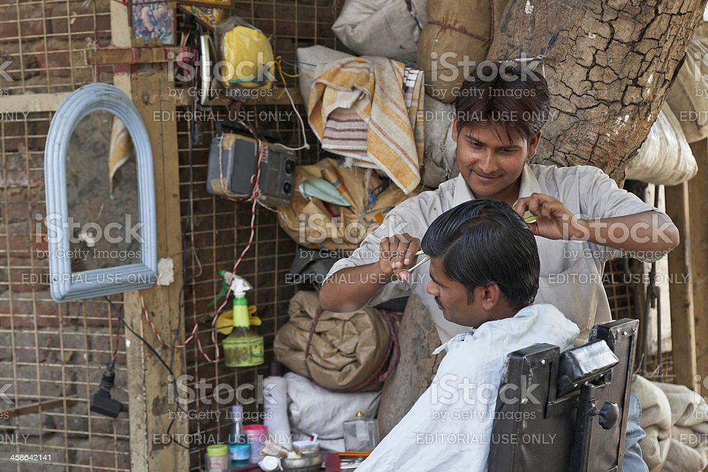 Street Barber royalty-free stock photo