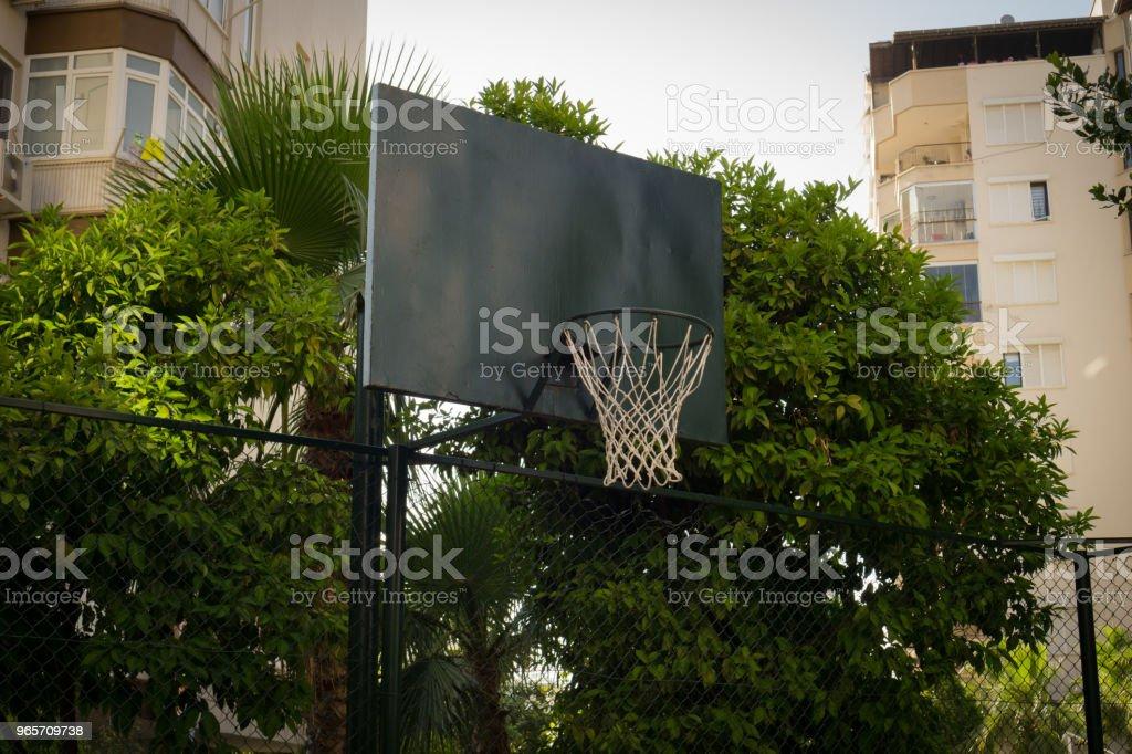 Street basketball hoop. - Royalty-free Back Board - Basketball Stock Photo