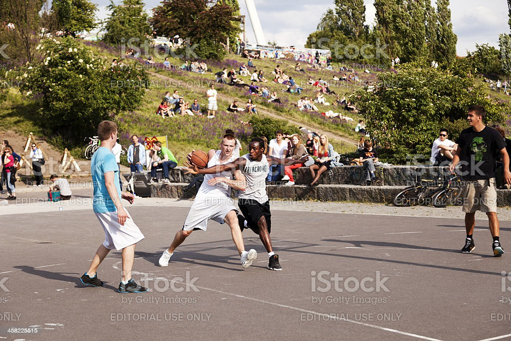 Street Basketball Intense Battle royalty-free stock photo