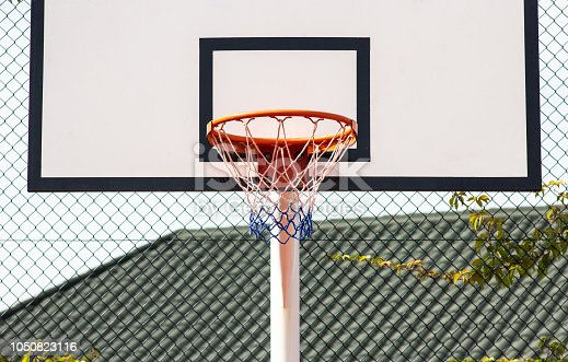 518943593istockphoto Street basketball.Basketball Hoop close-up, healthy lifestyle concept 1050823116
