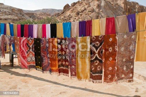 Highly coloured shoals in a desert street bazaar - Tunisia