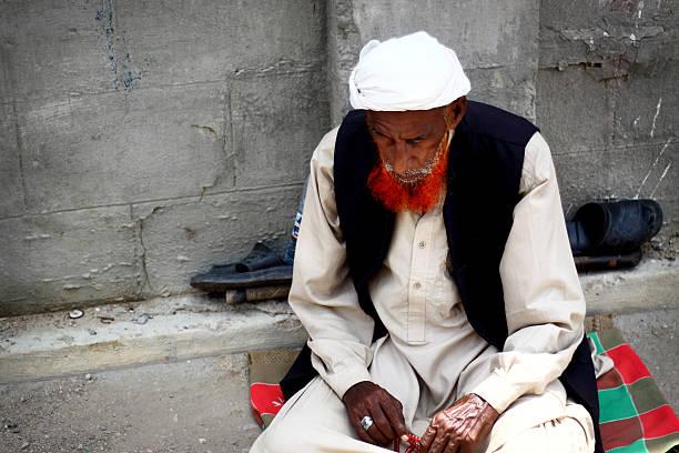 Street Beggar stock photo