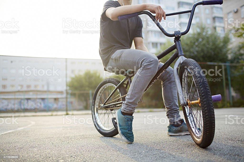 Street biker stock photo
