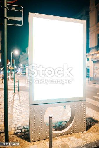 istock Street billboard at night 803916470