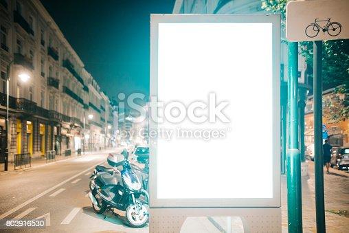 istock Street billboard at night 803916530