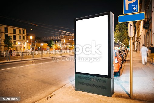 istock Street billboard at night 803916532
