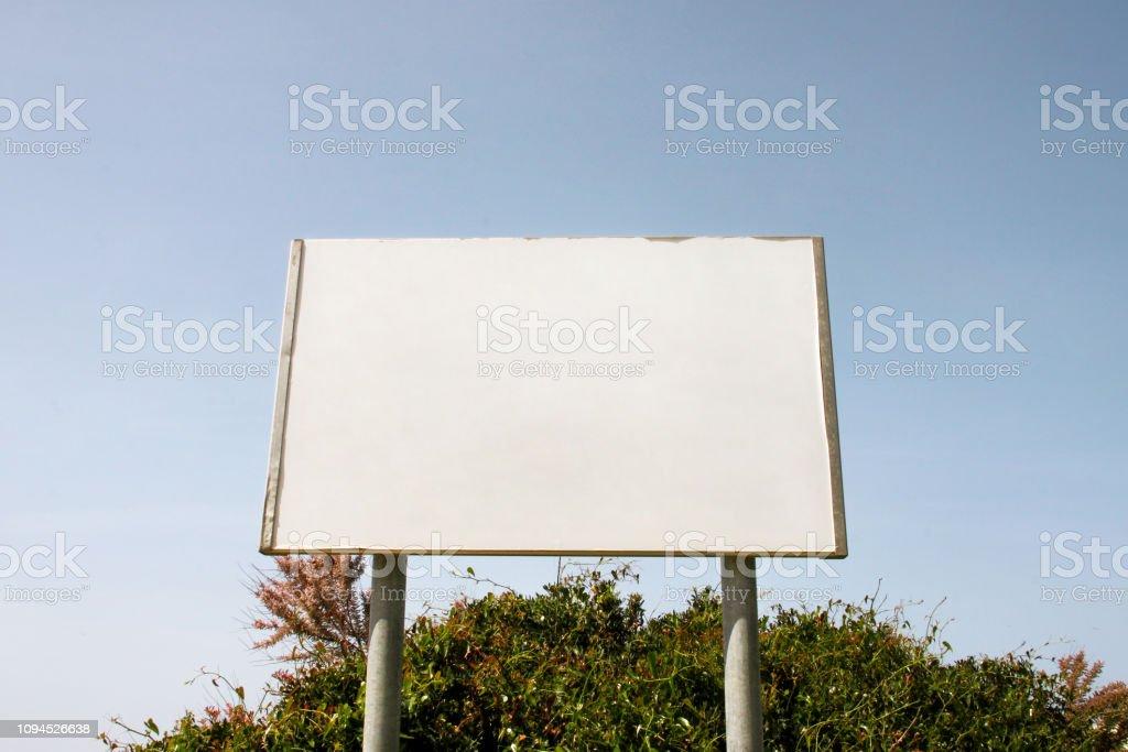 Street blank advertising billboard display, announcement table....