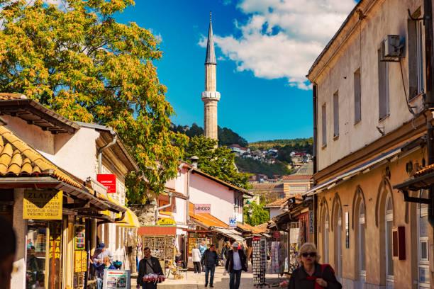 Straße Bravadžiluk in Baščaršija Straße Kazandžiluk – Altstadt von Sarajevo, Bosnien und Herzegowina – Foto