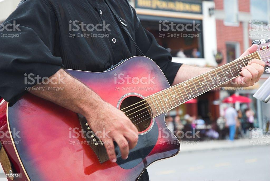 Street busker. stock photo