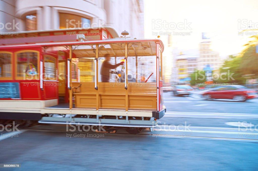 Street Cable Car, San Francisco, USA stock photo