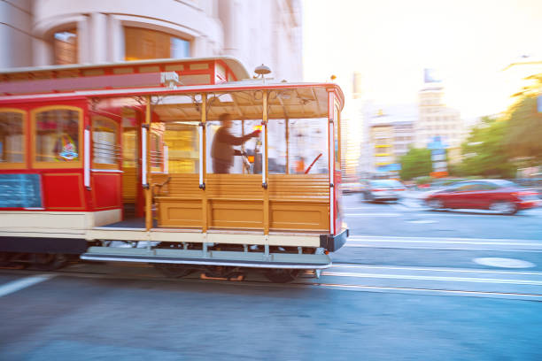 gatan linbana, san francisco, usa - spårvagn bildbanksfoton och bilder