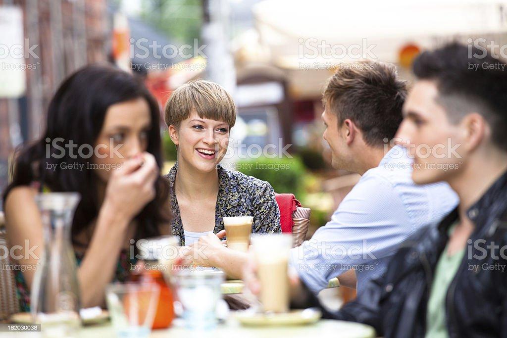 Street café in Berlin stock photo