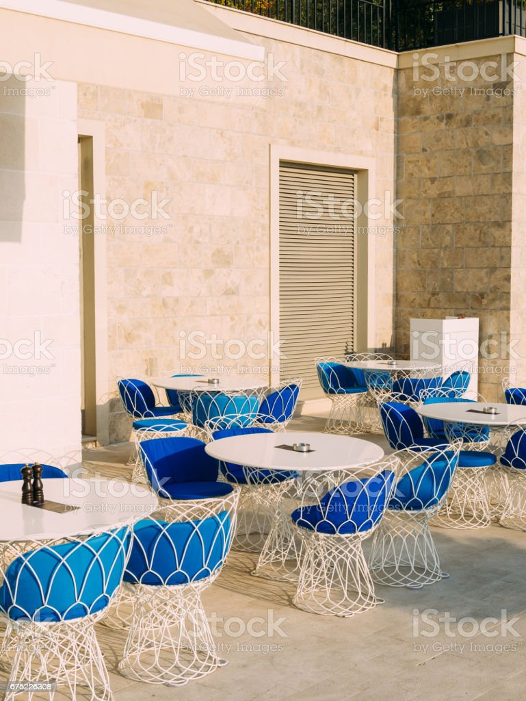 Street Cafe. Cafe in Montenegro royalty-free stock photo