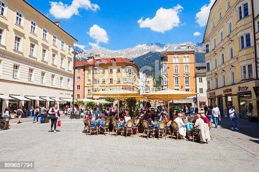 istock Street cafe in Innsbruck 899657794